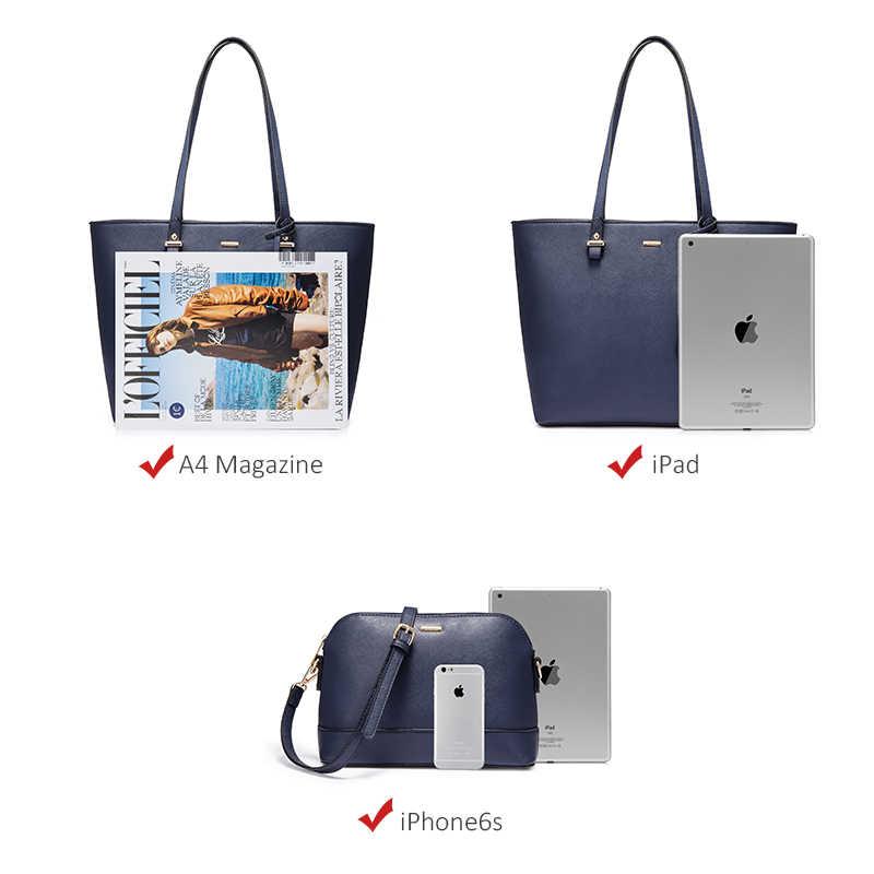 LOVEVOOK handtasche frauen schulter taschen designer umhängetasche tasche weiblichen große tote tasche set luxus geldbörse und kupplung 2019