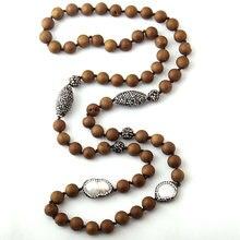 8e1f7b7b5f12 Moda Natural Druzy cuentas anudadas Halsband Handmake piedras y perlas  collar de piedra