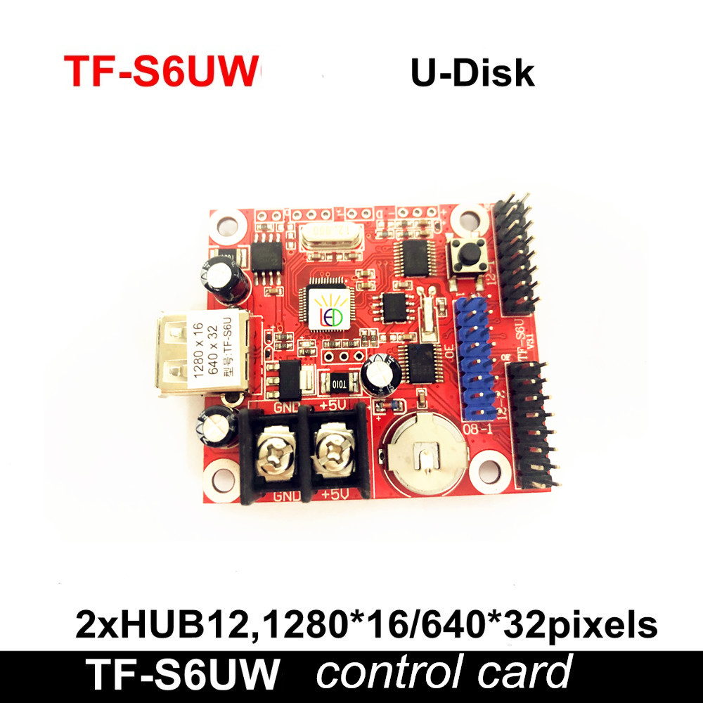 U-disk TF-S6U (Replace TF-S5U) LED Control Card ,New Wifi P10 Single & Dual Color LED Display LED Controller