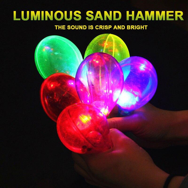 Креативный мигающий Тамбурин прозрачный праздничный свет Тамбурин для подарка Прямая