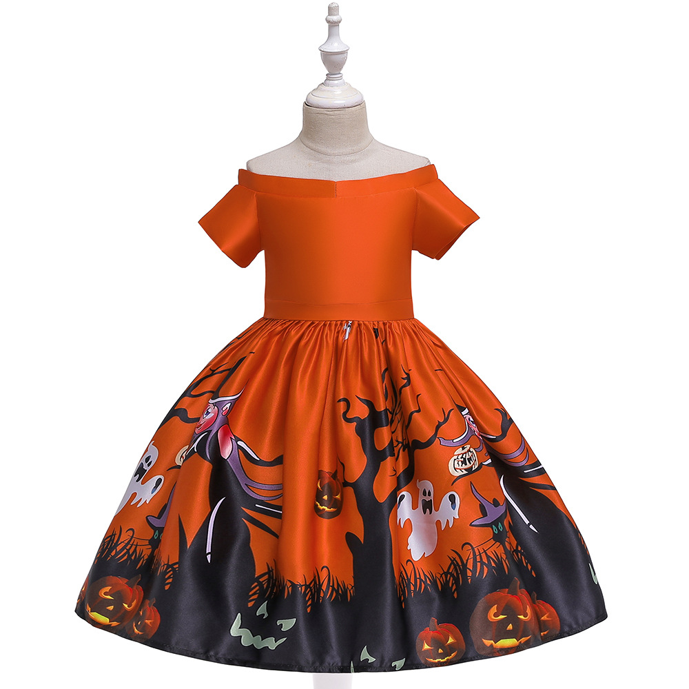 Girls Dresses For Kids 2019 Halloween Cosplay Party Dress Clothes Teens Princess Dress Hat Children Christmas Carnival Dresses (7)