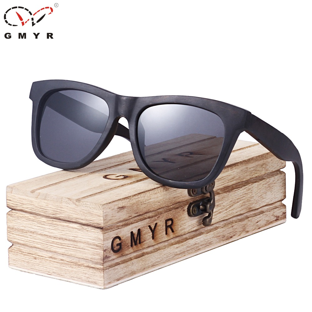13Colors Real Top Men Wood Sunglasses Tree Frame Mens Wooden Sunglasses Forest Polarized Square font b