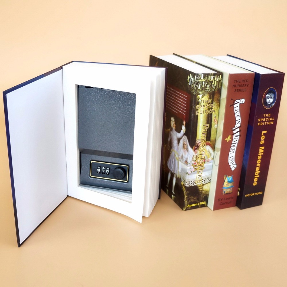 Safe Box Book Money Hidden Secret Security Safe Lock Cash Money Coin Storage Jewellery Key Locker For Kid Gift