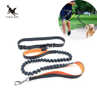 TAILUP Durable Dual Handle Bungee Pet Leash For Jogging Running Hiking Reflective Hands Free Dog Leash