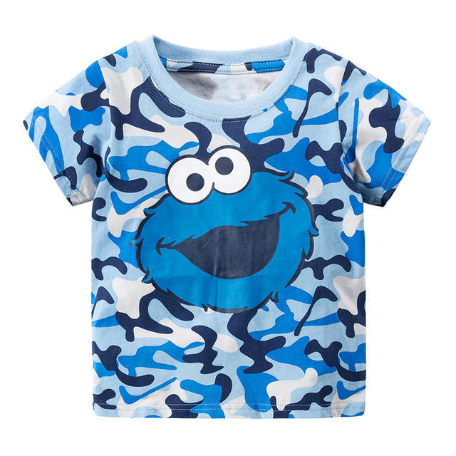 4daa7e3883 Jumping Meters Sesame Street Elmo Print Baby Boys Tees 2018 Brand Summer  Clothes Kids T-