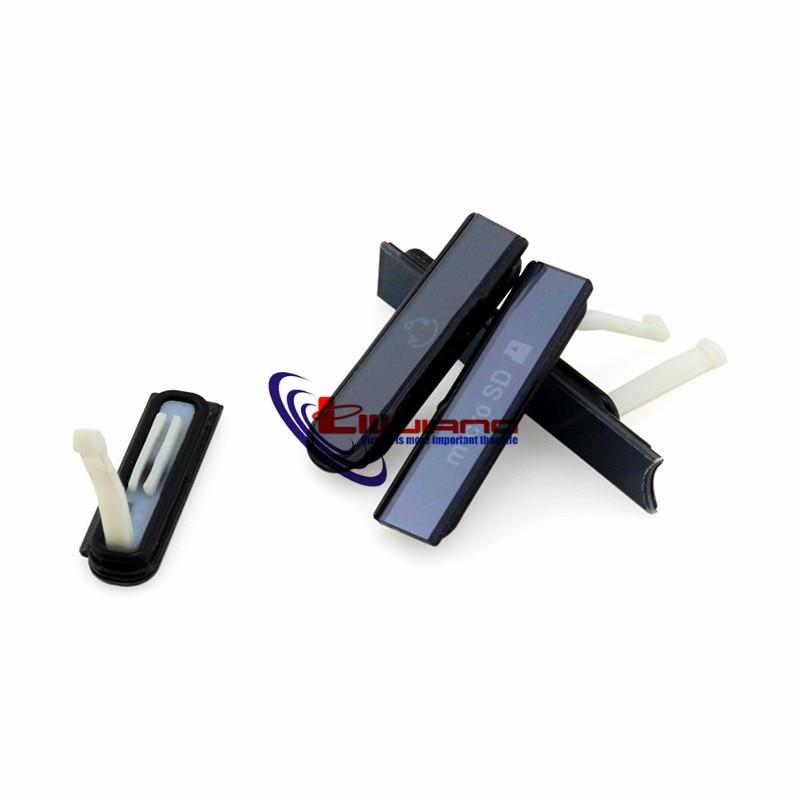 Liujiang Housing for Sony Z L36h L36 C6602 C6603 Micro SD Earpone Jack SIM Card Port Slot USB Charging Port Dust Plug cover