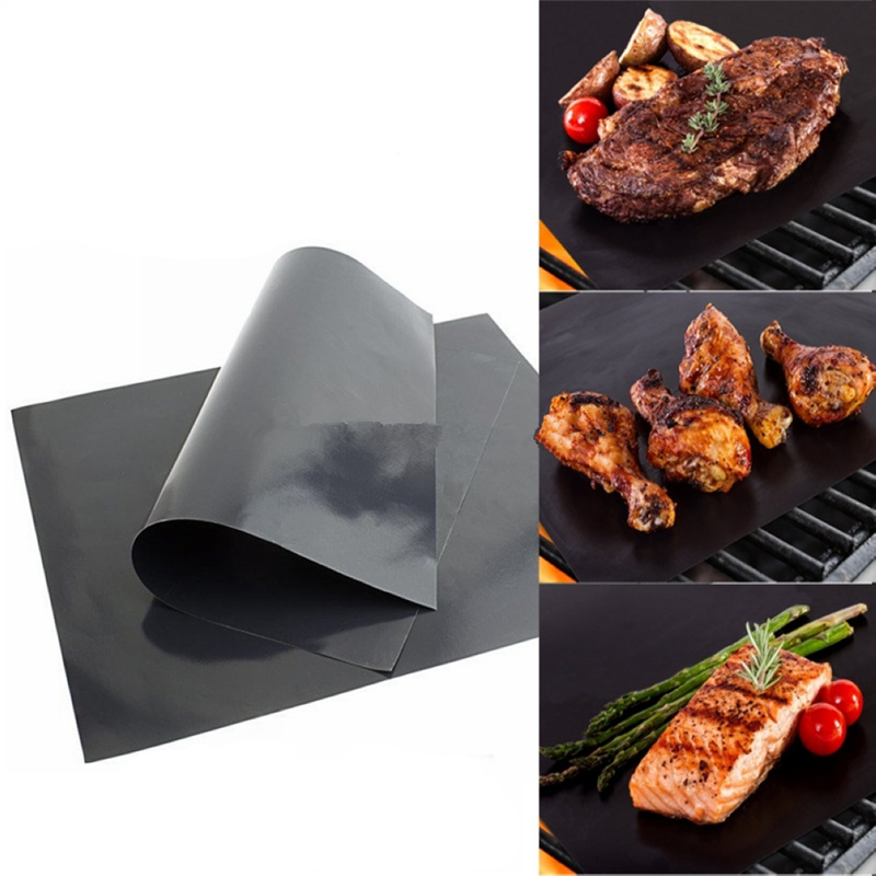 Reusable BBQ Grill Mat Non-stick Baking Pad Teflon Cooking Plate 40 * 30cm For Party Grill Mat Cooking Tool High Temperature