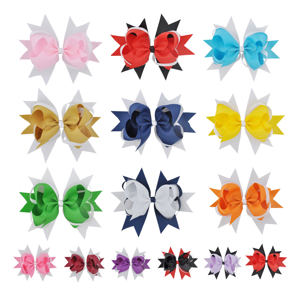 8 Inch Kids Girls Hairwear Big Hairbow Princess Hairpins Children Cute Hair Bows Clips Hair Accessories 1piece retail kids girl styling tools crown hair clips princess hairpins bow headbands for party accessories
