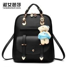 SNBS 100 Genuine leather Women backpack 2017 New Fashion style shoulder bag leisure backpack female Korean