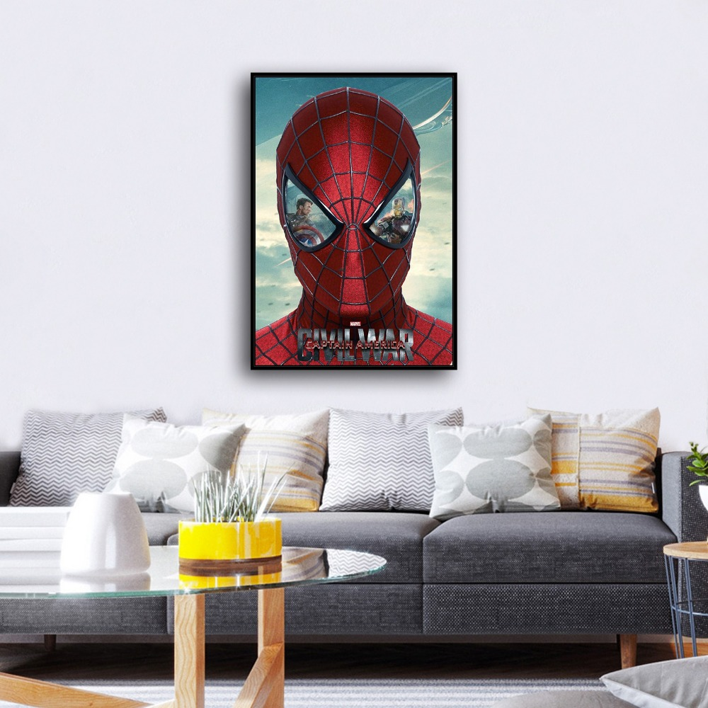 H2083 Jumping spider man Superman Movie Hero .HD Canvas Print Home ...