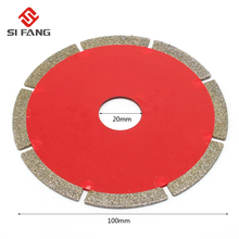4'' 100*20*2mm Diamond Saw Blade Cutting Disc Grinding Cutter Cut For Glass Steel Jade Pvc Pipe Cutting Tool недорого