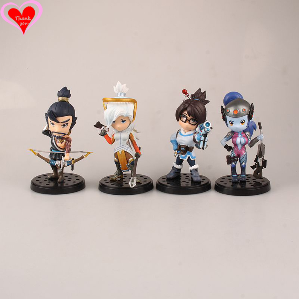 Love Thank You OW over game watch Hanzo Mei Mercy Widowmaker cute figure toy Collectibles Model gift doll game over