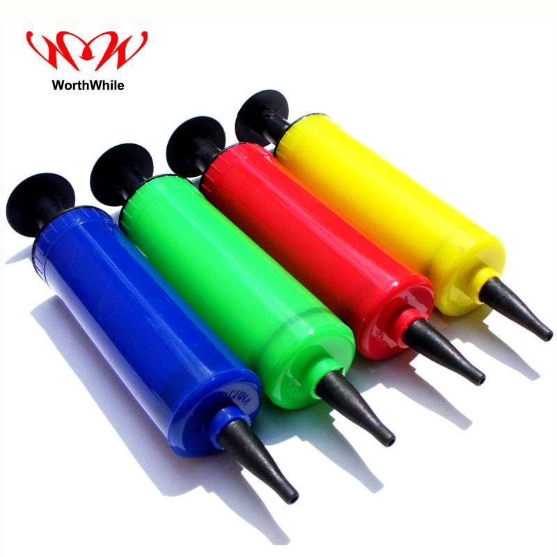 WorthWhile Mini Portable Hand Push Inflatable Tube Air Pump for Life-Vest Tent Pillow Balloon Toys Multi Tools Random Color