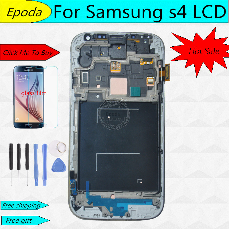 ФОТО Replacement LCD For Samsung Galaxy S4 i9505 i9500  i337 LCD Display Touch screen Digitizer With Frame +tools free shipping