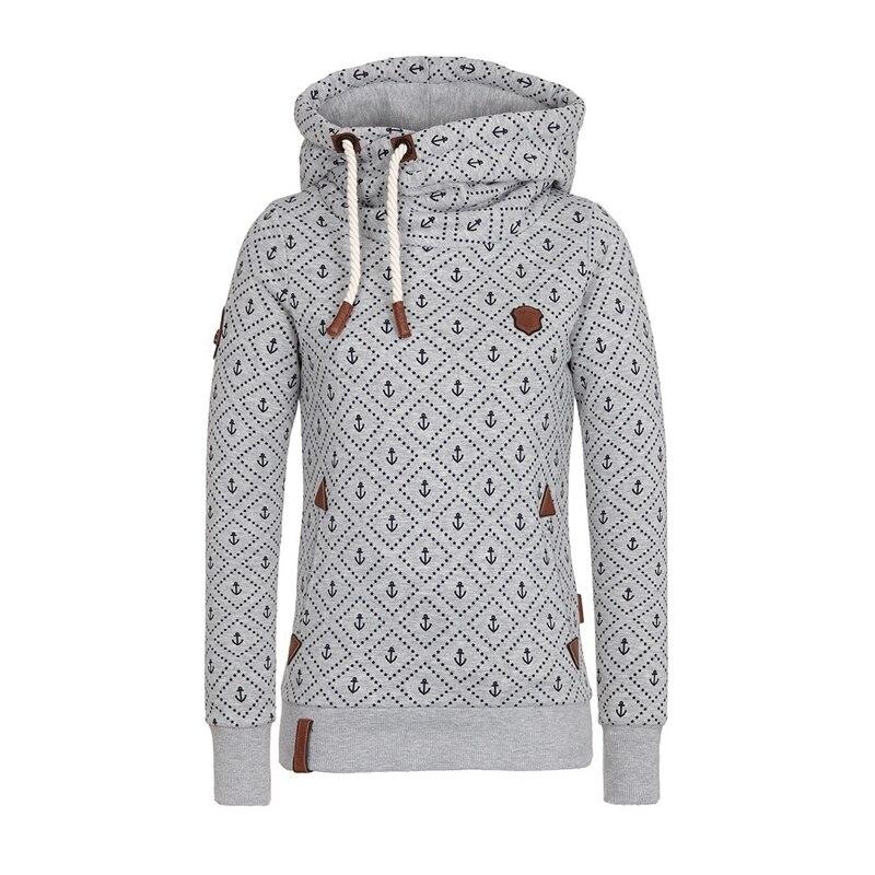 Manubeau New Arrival Mulheres Hoodies Da Moda Âncora de Impressão Moletons Casual Plus Size 5XL Kpop Hoodies Hoodies Do Esporte Básico