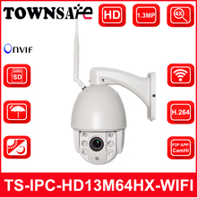TOWNSAFE New HD 960P 1.3MP Mini PTZ Dome IP Camera Outdoor Wireless 2.8-12mm 4X Optical Zoom Built-in 32GB TF Card P2P