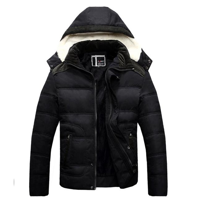Nova marca de moda inverno jaqueta de algodão dos homens quentes dos homens Europeu & American-parka-jaqueta homme homens Parka marca roupas casaco
