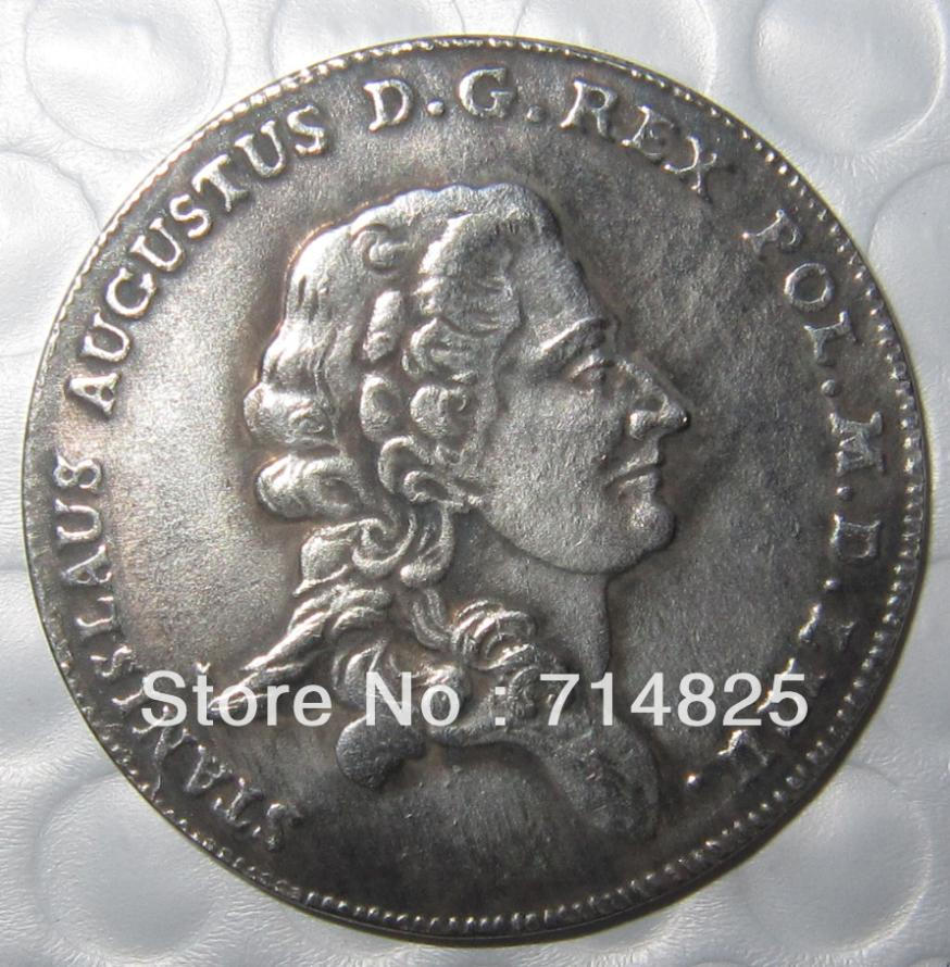 FREE SHIPPING Poland 1782 Talar S A P STANISLAUS AUGUSTUS super coin COPY FREE SHIPPING