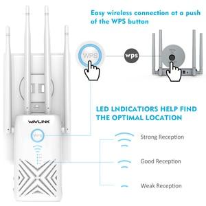 Image 2 - Wavlink Full Gigabit 1200Mbps wzmacniacz sygnału wifi Extender/wzmacniacz/Router/punkt dostępu bezprzewodowy dwuzakresowy 2.4G/5G 4x5dBi anteny