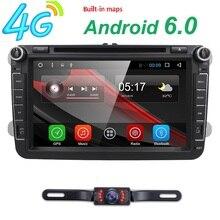 2 din Android 6.0 araç multimedya oynatıcı fit volkswagen vw skoda yeti golt polo passat b6 jetta touran gps radyo TSK DAB WIFI 4G