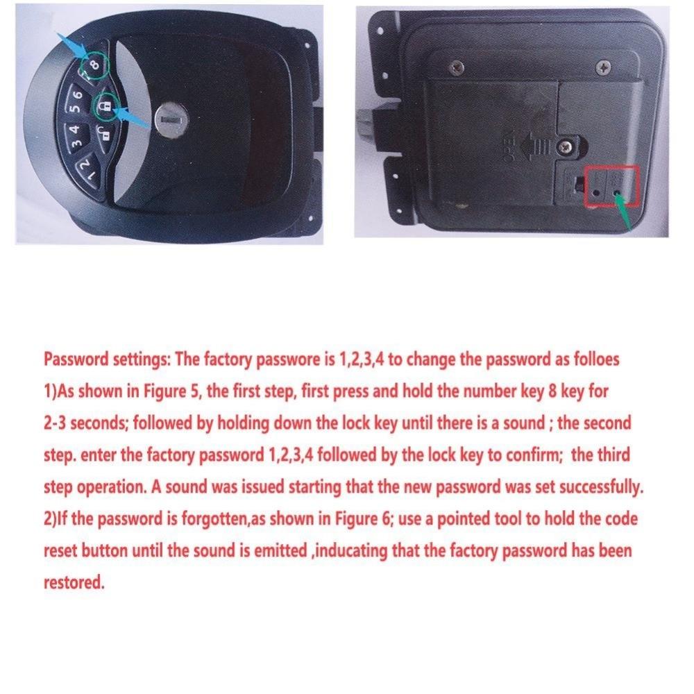 Black Keyless RV Entry Door Lock-6