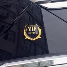 2 stks/partij 3D Logo VIP auto styling voor Volkswagen POLO Tiguan Passat Golf EOS Scirocco Bora Lavida Touran Kever