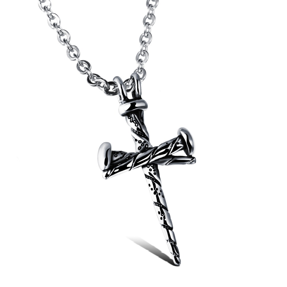 Cool jewelry designs classic necklace stainless steel cross men necklace fashion nail mozeypictures Images