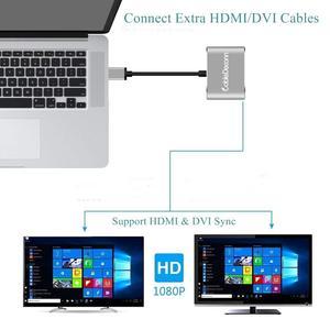 Image 2 - USB3.0 إلى HDMI DVI محول HD 1080P فيديو الرسومات محول ويندوز 7/8/10 فقط ، ودعم HDMI DVI العرض