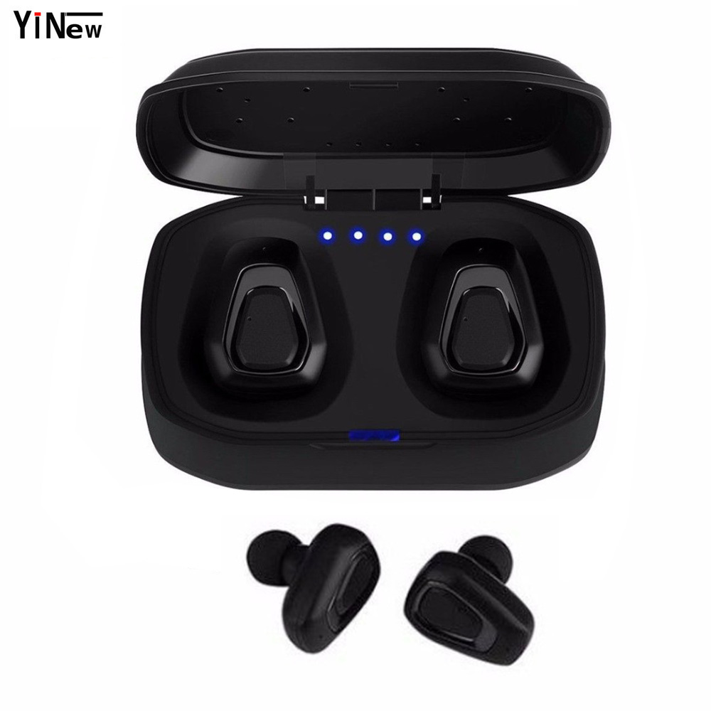 TWS Wireless Bluetooth Headset Stereo earpiece Hand free ear air pod Sport headphone Earphone For iphone X huawei xiaomi PK X2T