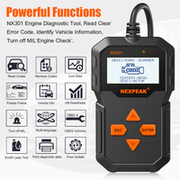 OBD2 Automotive Auto Diagnostic Scanner Full OBD Modes Scan Tools Car Code Reader Diagnostic Car ODB 2 Pk AD310 ELM327