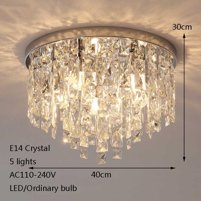 Современный простой покрытием crystal блеск потолочные светильники E14 220 В светодиодный Plafonnier потолочный светильник для гостиной спальня ресторан отеля