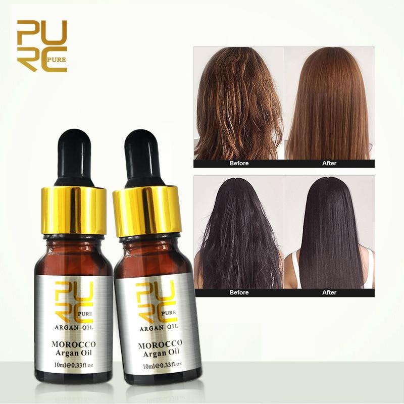 PURC Moroccan Hair Care Essential Oil 2PCS/set Repair Damage Hair Improve Frizz Hair Oil Control Suitable For All Hair Types