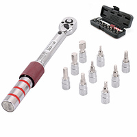 2 15NM Bicycle Torque Wrench Set Repair Tools Bike Socket Bits Mechanical Kit Outdoor Accessories with Box|Hand Tool Sets| |  -