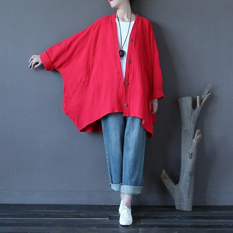 351d4e64cf Solidna Red White Zabytkowe Bielizna Bluzki Damskie Bluzka Koszula Plus  size Batwing Oryginalny Koszule Lniane Blusas Topy Big Znosić w Solidna Red  White ...