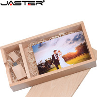 (1 PCS Free LOGO) Photo Unique Album walnut Wood USB+Box Pendrive USB flash drive 8GB 16GB Photography (120*250*50 mm)