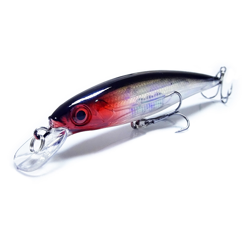 Laser Minnow Fishing Lure 11CM 13G Pesca Hooks Fish Wobbler Tackle Crankbait Artificial Japan Hard Bait Swimbait 7 Colors 1pcs 11cm 14g fishing lure hard bait fish minnow luminous artificial baits fishing wobbler japan pesca lure crankbait kosadaka