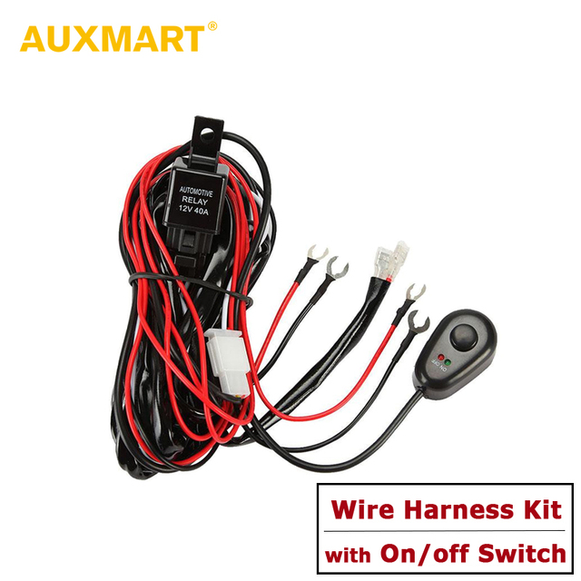 auxmart 2 5m in length dc 12v 40a wiring harness loom kit fuse relay rh aliexpress com