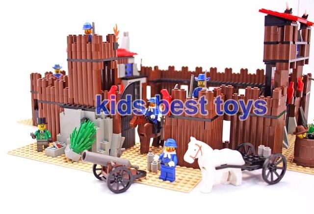Christmas Toys For Boys : New idian cowboy s castle model boys diy building brick toys