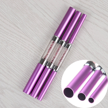 3Pcs C Curve Rod Stick French Nail Stick UV Tips Manicure Nail Art Tool Purple