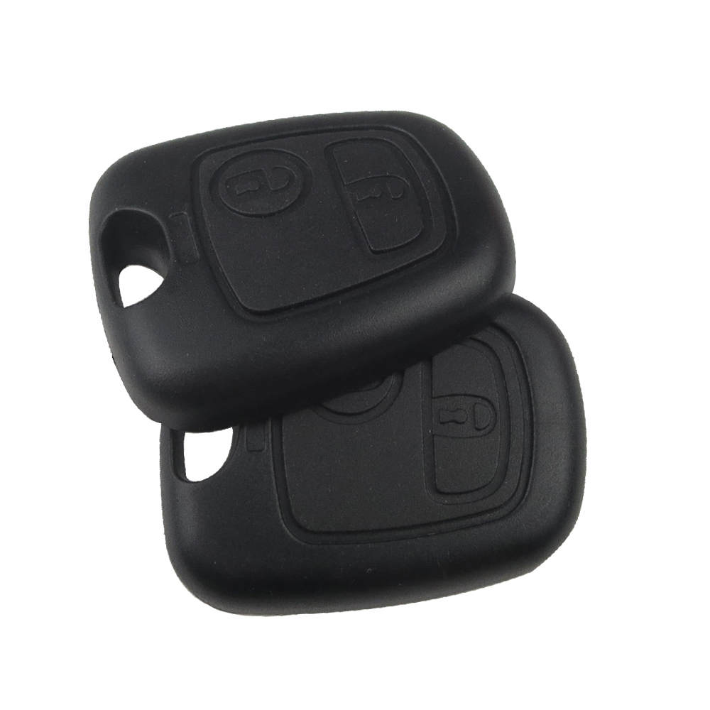 Ekiy 2 Buttton Remote Car Key Shell Fob Case Replacement