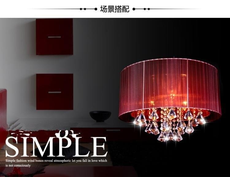 Nieuwe led crystal light schaduwdoek lamp minimalistische