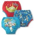 3 unids/lote Pantalones de Entrenamiento Orinal Bebé Infantil Cubierta Del Pañal Reutilizables Lavables Pañales de Entrenamiento Para Niños Ropa Interior