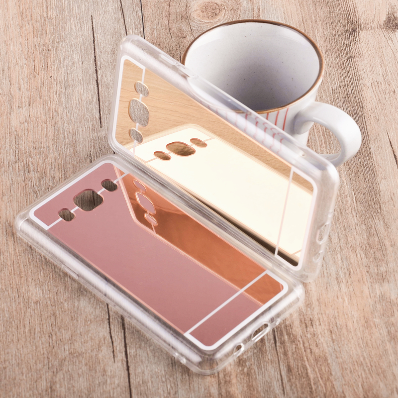 Luxury Bling Mirror Phone Case For Samsung Galaxy J1 Ace Clear TPU Ultra Slim Flexible S ...