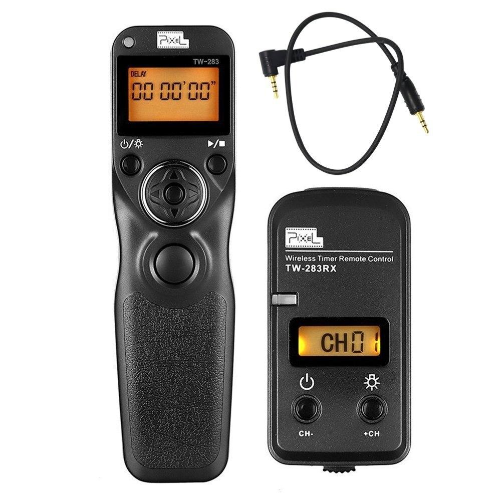 PIXEL TW-283 E3 inalámbrico temporizador del obturador Control remoto para Canon 760D 750D 700D 650D 600D 550D 200D 60D 70D 1200D T6s T6i