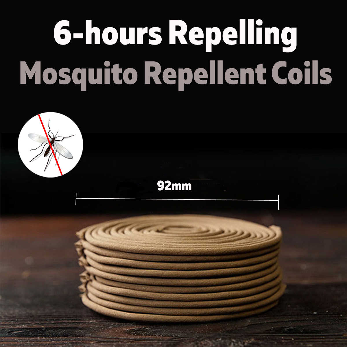 20 Pcs Nyamuk Kumparan Repellents Terbang Serangga Repeller Coils dengan Penahan 92 Mm Rumah Bedroom Taman Pengendalian Hama Aksesoris