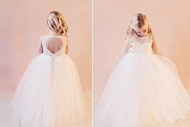 Princess Tulle Ball Gown Flower Girl Dresses Floor Length