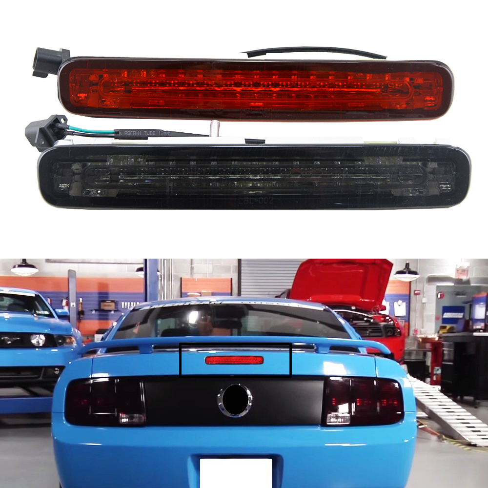 2005 2009 ford mustang 2x hid white 921 led reverse light bulb backup - 1x Oem Fit For 2005 2009 Ford Mustang Smoke Red Lens Led Third 3rd