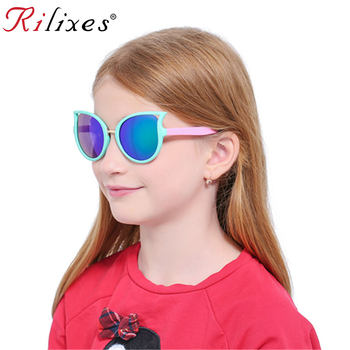RILIXES Children Kids Sunglasses Cute Heart Shaped UV400 Sun Glasses Fashion Frame Eyewear Baby Girls Sunglasses Oculos De Sol
