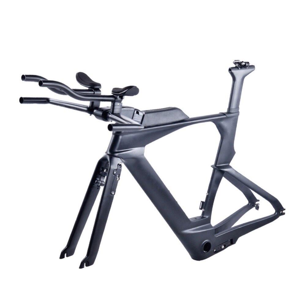 2018 Nouveau Di2 En Carbone-montre Triathlon Cadre 700C Ultra-Léger Carbone Carbone TT Vélo Cadres OEM TT de Carbone Vélo de Cadres