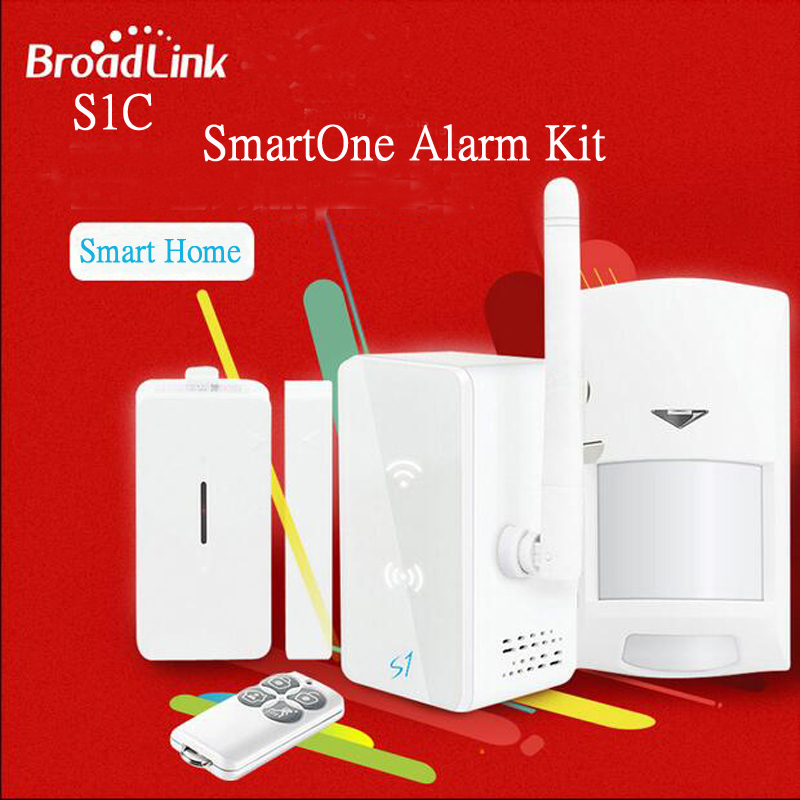 Broadlink S1 Smart Home Automation Kit SmartONE S1C Switch Mini Hub PIR Motion Sensor Remote Contorl Switch Alarm Kit